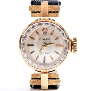 Rolex Mechanical Yellow Gold (18K) Women's Luxury Watch Orchid