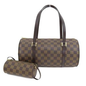Genuine LOUIS VUITTON Louis Vuitton Damier Papillon 30 pouch with bag leather