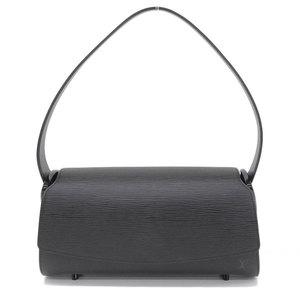Genuine LOUIS VUITTON Louis Vuitton Epi Nocturne GM Shoulder Bag Noir Leather