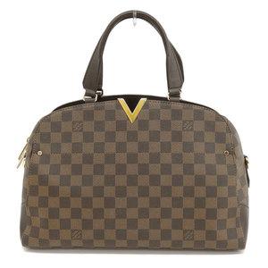 Genuine LOUIS VUITTON Louis Vuitton Damier Kensington Boring 2WAY bag leather
