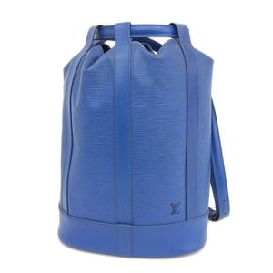 LOUIS VUITTON Louis Vuitton Epi Landone Blue One-shoulder Bag Leather