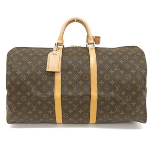 Genuine LOUIS VUITTON Louis Vuitton Monogram Kiepol 55 Boston bag leather