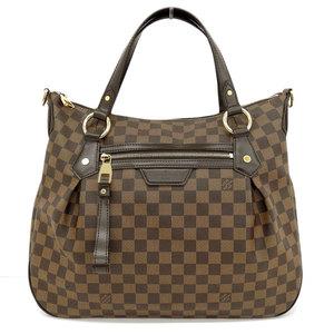Genuine LOUIS VUITTON Louis Vuitton Damier Ivora 2WAY bag leather