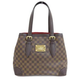 Genuine LOUIS VUITTON Louis Vuitton Damier Hampstead MM Bag Leather