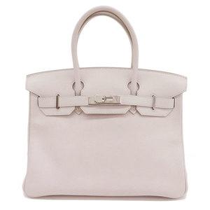 Genuine HERMES Hermes Birkin 30 Swift SV hardware Rose dragee K engraved bag leather