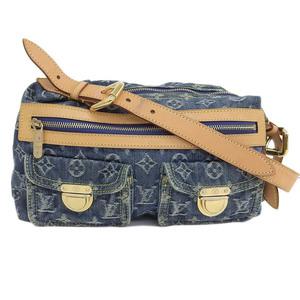 LOUIS VUITTON Louis Vuitton Monogram Denim Buggy PM Blue Bag Leather