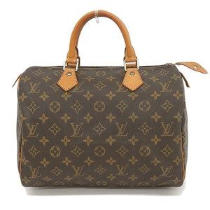 Genuine LOUIS VUITTON Louis Vuitton Monogram Speedy 30 Handbag Bag Leather
