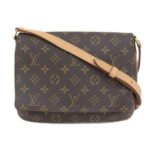 Genuine LOUIS VUITTON Louis Vuitton Monogram Muse Tango Long Shoulder Bag Leather