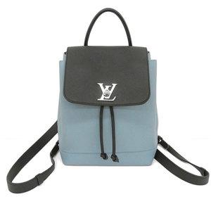 Genuine LOUIS VUITTON Louis Vuitton Rock Me Rucksack Black x Blue M43170 Bag Leather