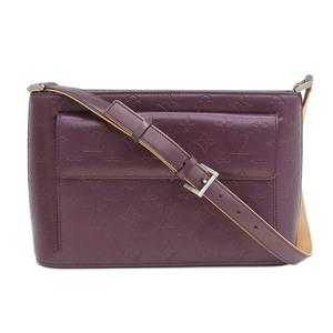 Genuine LOUIS VUITTON Louis Vuitton Monogram Matte Alston Bag Leather