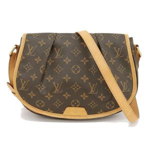 Genuine LOUIS VUITTON Louis Vuitton Monogram Menil Montan Model: M40474 Bag leather