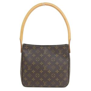 Genuine LOUIS VUITTON Louis Vuitton Monogram Looping Bag Leather