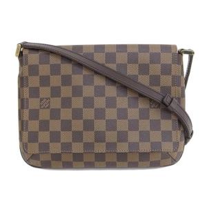 Genuine LOUIS VUITTON Louis Vuitton Damier Muse Tango Long shoulder Model number: N51301 Bag leather