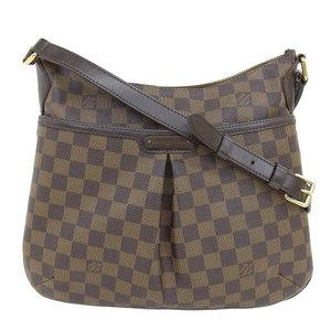 Louis Vuitton Damier Bloomsbury Shoulder Bag Ebene Leather