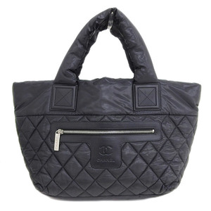 Genuine CHANEL Chanel Cocoko Koon Tote PM Bag Black Silver hardware 14 series bag leather