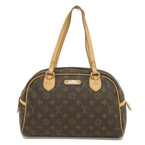 Genuine LOUIS VUITTON Louis Vuitton Monogram Montorguil Shoulder Bag Leather