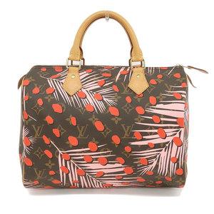 Genuine LOUISVUITTON Louis Vuitton Monogram Jungle Dot Speedy 30 Bag Leather