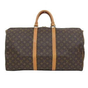 Genuine Louis Vuitton Monogram Kiepol Bandtriel Boston Bag Leather
