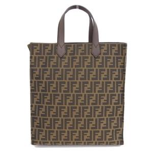 Genuine FENDI Fendi Zucca Tote 8BH263QOM bag leather