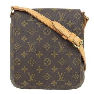 Genuine Louis Vuitton Monogram Museux Salsa Short Shoulder Bag Leather