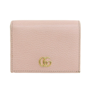 Genuine GUCCI Gucci GG Marmont Two-folded wallet Pink