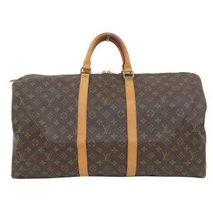 Genuine Louis Vuitton Monogram Kiepol 55 Boston bag leather