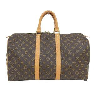 Genuine Louis Vuitton Monogram Kiepol 45 Boston bag leather