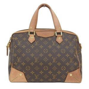 Genuine Louis Vuitton Monogram Retiro 2way handbag shoulder Model: M40325 Leather