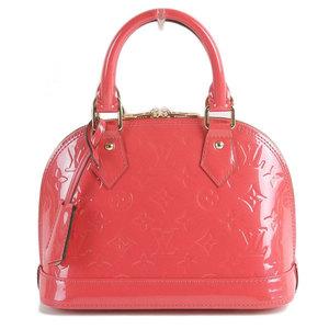 Genuine LOUIS VUITTON Louis Vuitton Verny Alma BB Pink Model: M90976 Bag leather