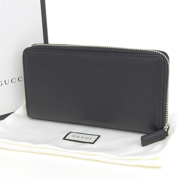 4133a1dab39 Details about Auth Genuine GUCCI Gucci round zipper long wallet leather  black