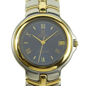Genuine ZENITH Zenith Acropolis Men's Automatic Watch Navy Dial