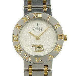 Genuine CORUM Corum Romulus Ladies Quartz Watch Silver Dial 24.103.21V48