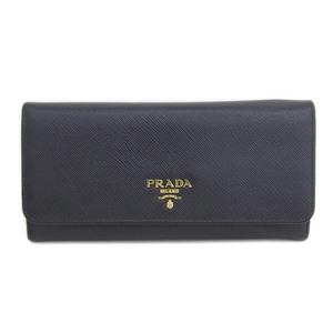 Genuine PRADA Prada Safiano Leather Purse With Pass Case Black 1MH132