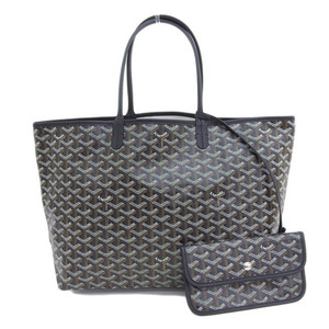 Goyard Genuine GO YARD Gojar Saint Louis PM Tote Black Pouch Bag Leather