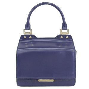Genuine JIMMY CHOO Jimmy Cho leather 2WAY handbag shoulder blue bag