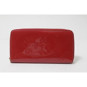 ルイ・ヴィトン(Louis Vuitton) ヴェルニ ラウンドファスナー長財布 レッド  財布