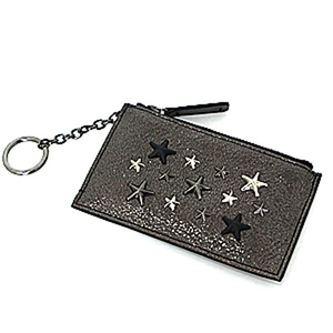Jimmy Cho JIMMY CHOO coin case CAMELOT Men's glitter leather S rank
