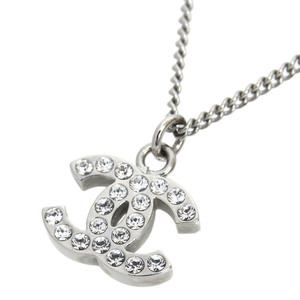 Chanel Coco Mark Alloy Swarovski Women's Fashion Pendant (Silver)