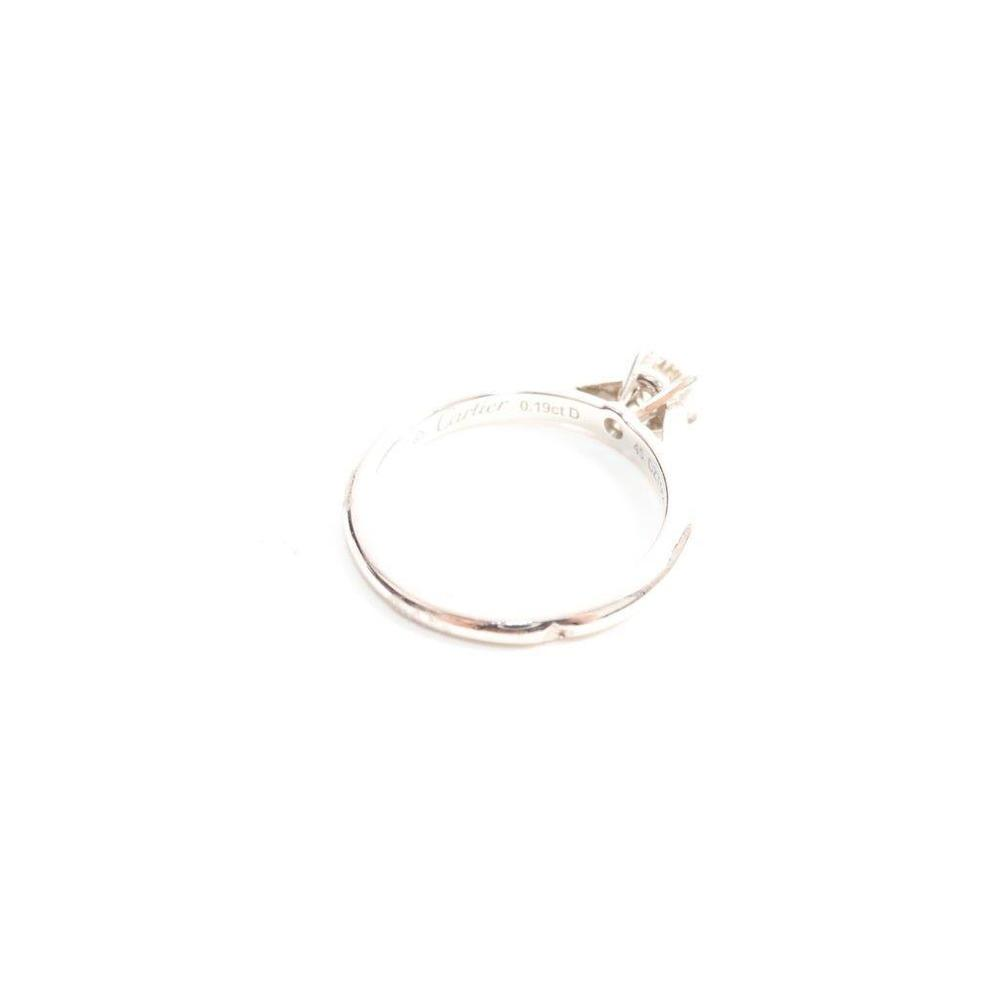 カルティエ(Cartier) 1895 ソリテール Pt950(プラチナ) 婚約&結婚式用 ダイヤモンド エンゲージリング カラット/0.19 プラチナ