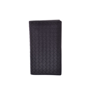 Bottega Veneta Fastener Purse Intorechart Black Men's Calf AB Rank BOTTEGA VENETA Used Ginzo