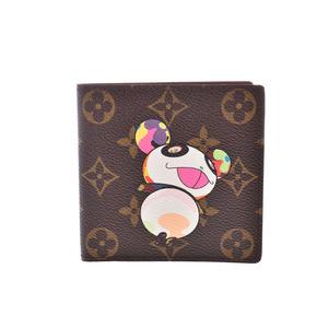 ルイ・ヴィトン(Louis Vuitton) ルイヴィトン モノグラムパンダ 二ツ折財布 ブラウン M61666 レディース メンズ 本革 新同 美品 LOUIS VUITTON 中古 銀蔵