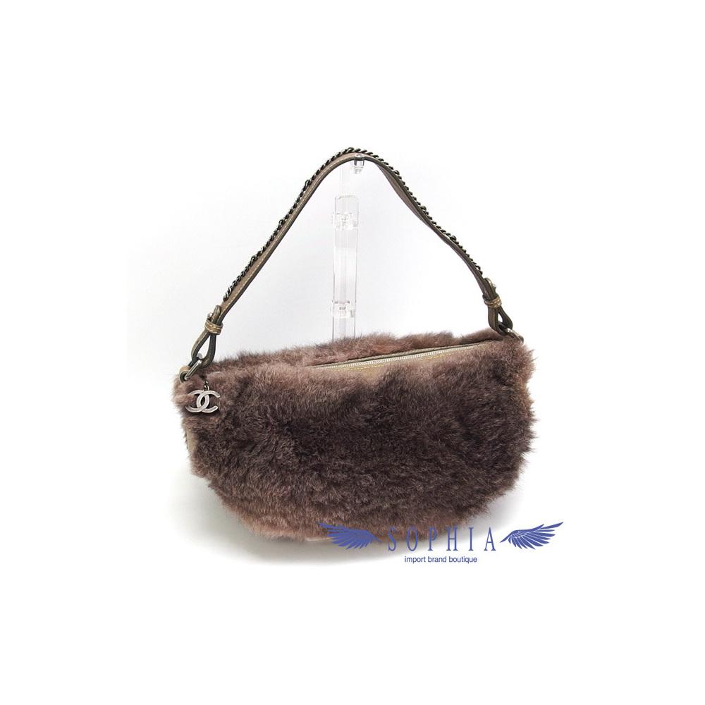 c375ee92366814 Chanel Faux Fur x Leather One Shoulder Bag Brown system 20190313