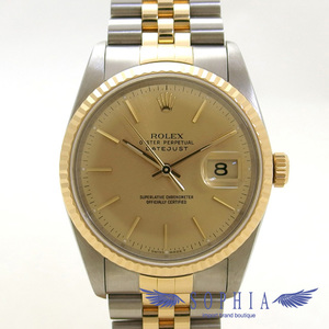 Rolex Datejust 16233 Gold Dial E Number 20190308