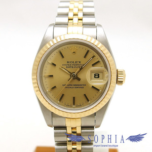 Rolex Datejust 69173 W Number Gold Dial 20190308