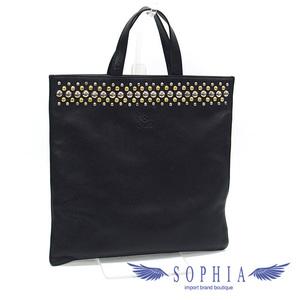 Loewe riveted gussetless leather tote bag black 20190319