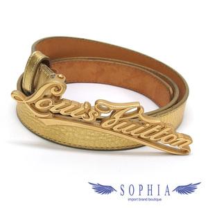 Louis Vuitton Stouture Ladies Belt Gold 20190319