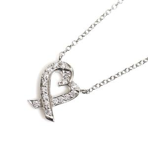 b81c6f9db Tiffany TIFFANY & CO Paloma Picasso Loving Heart Pendant Platinum Diamond  Ladies Necklace Jewelry Finished