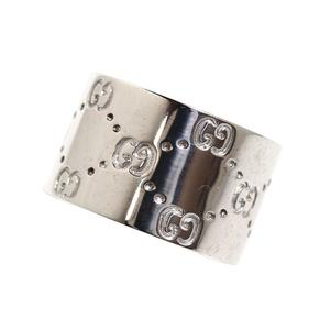 Gucci GUCCI Icon Ring K18WG Wide Size Mens No. 23 Jewelry Accessories Finished