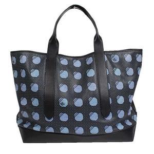 Loewe LOEWE Printed Leather Large Tote Bag Black x Blue