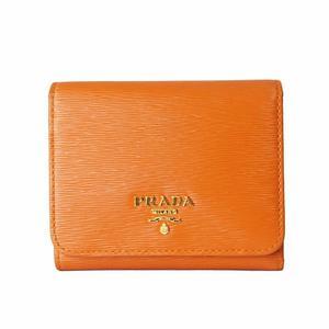 Prada PRADA tri-fold wallet 1MH176 Orange Women